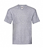 Camiseta Cuello V Original Fruit Of The Loom - Gris Jaspeado