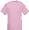 Camiseta Fruit of the Loom Value Weight Color - Rosa Claro