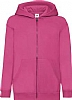 Sudadera Infantil Capucha Classic Fruit Of The Loom - Fucsia