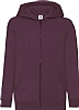 Sudadera Infantil Capucha Classic Fruit Of The Loom - Burgundy