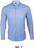 Camisa Sin Planchado Business Men Sols - Celeste