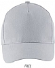 Gorra Long Beach Sols - Gris Puro