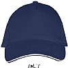 Gorra Long Beach Sols - French Marino / Blanco