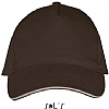 Gorra Long Beach Sols - Chocolate / Beige