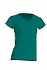Camiseta Regular Lady Cuello Pico - Verde Botella Jaspeado