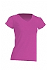 Camiseta Regular Lady Cuello Pico - Fucsia