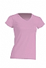 Camiseta Regular Lady Cuello Pico - Rosa