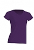 Camiseta Regular Lady Cuello Pico - Purpura