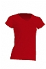 Camiseta Regular Lady Cuello Pico - Rojo