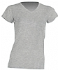 Camiseta Regular Lady Cuello Pico - Gris Melange