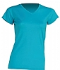 Camiseta Regular Lady Cuello Pico - Turquesa