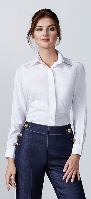 Camisa Laboral Mujer Manga Larga Sofia Roly marca Roly