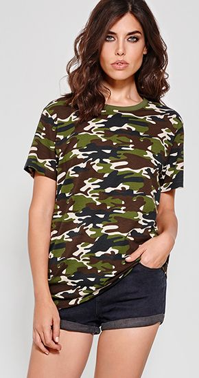 Camiseta Camuflaje Mujer Marlo Roly marca Roly