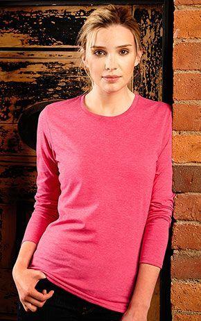 f5c28ee3e3 Camiseta Jaspeada Manga Larga Mujer Rusell - Camisetas Genérica ...