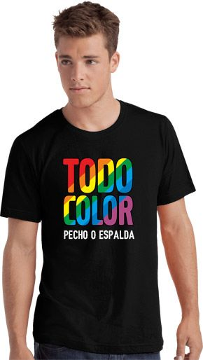 Camiseta Color Serigrafia Digital DINA4 marca Sols