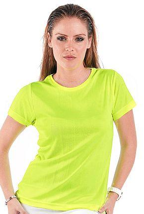 camisetas tecnicas amarillo