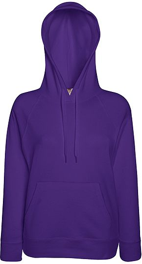 Sudadera Fruit of the Loom Mujer con Capucha Ligera Entallada marca Fruit of the Loom