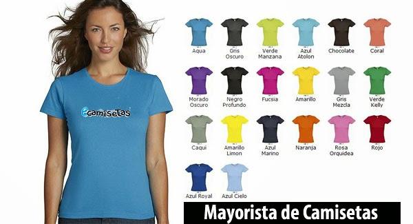 camisetas colores para personalizar