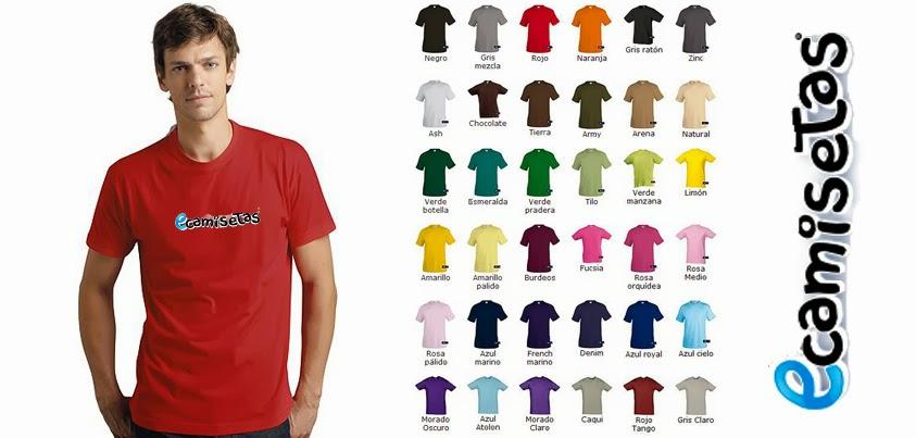 camisetas de colores personalizadas