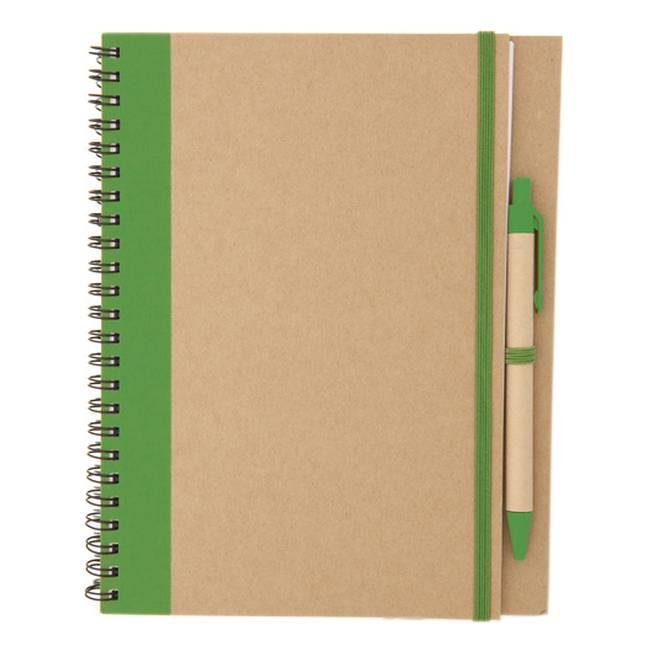 libreta personalizada verde