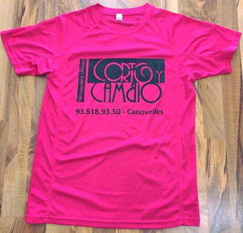 camiseta deportiva serigrafiada