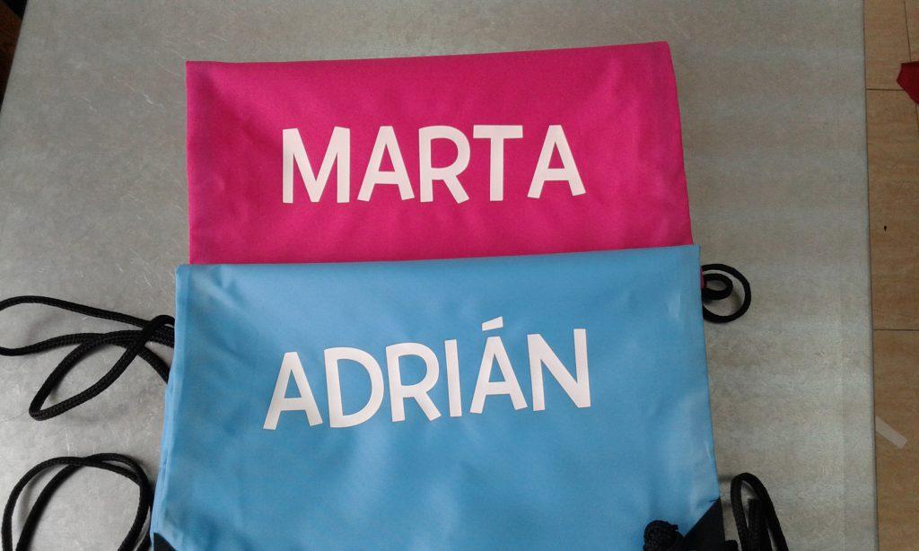 bolsas personalizadas con tu nombre