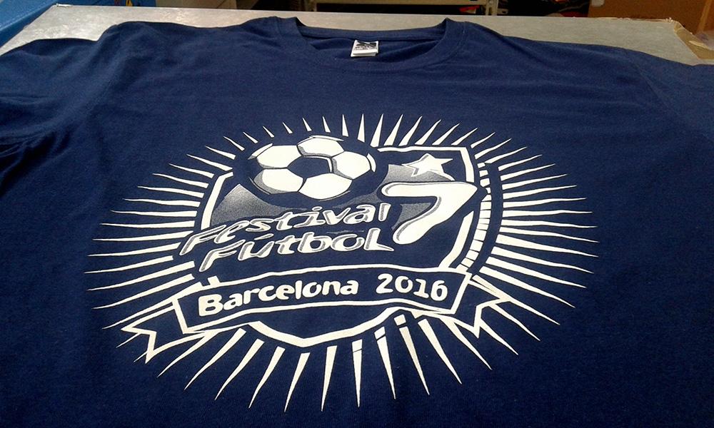 Camisetas para el Festival de Fútbol 7 en Barcelona
