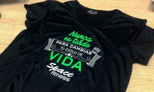 camisetas personalizadas space fitness