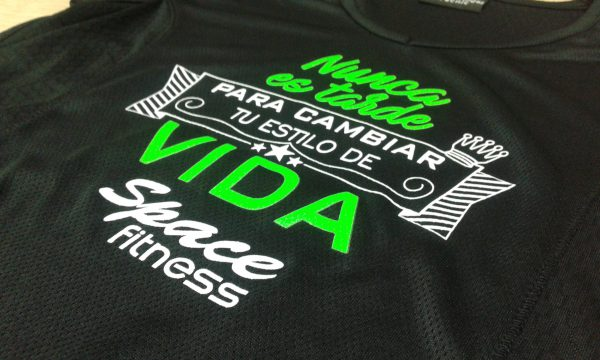 camisetas técnicas mujer space fitness