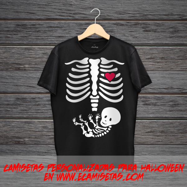 Camisetas embarazada halloween