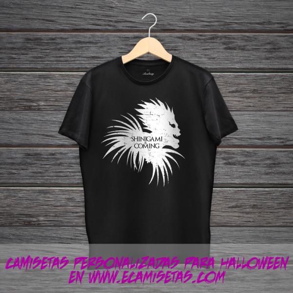 camiseta sinigami personalizada