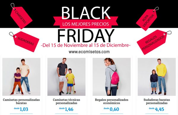 Camisetas Personalizadas Black Friday 2017