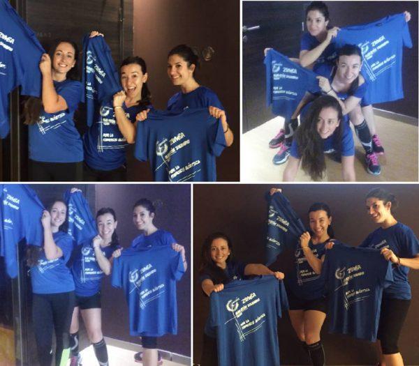 Camisetas azules personalizadas zumba