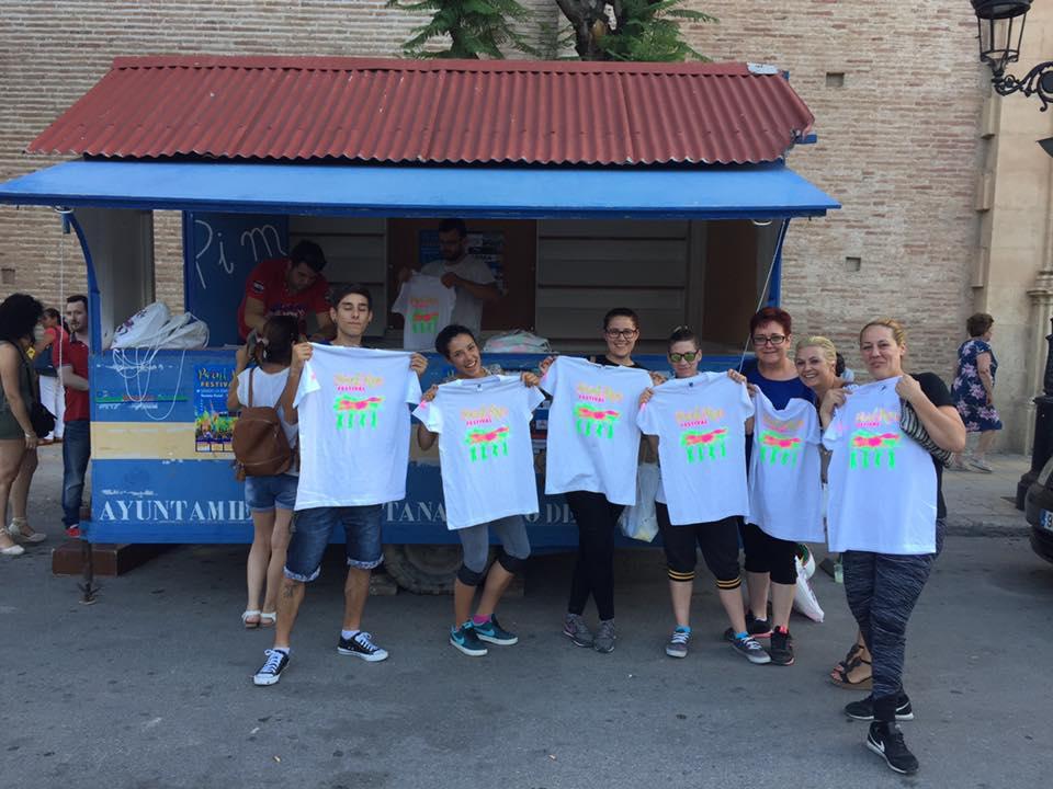 camisetas serigrafiadas fiestas de colores
