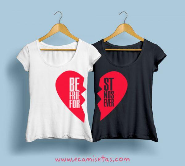 Camisetas personalizadas para mejores amigas