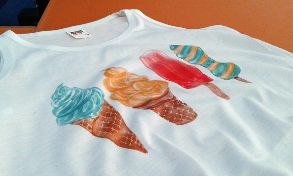 camiseta helados infantil
