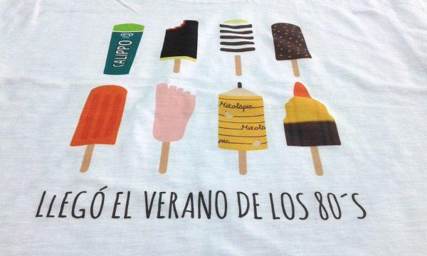 camisetas personalizadas verano de los 80´s