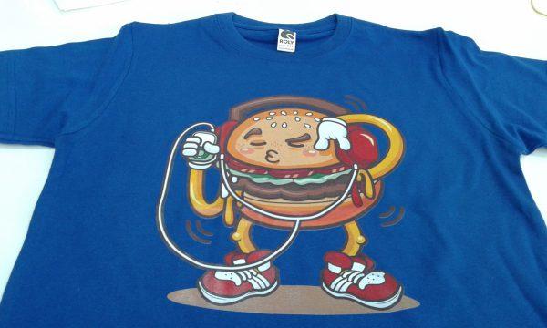camiseta hamburguesa rapera niños