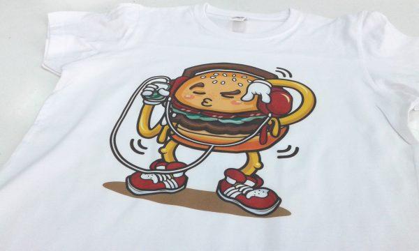 camiseta hamburguesa