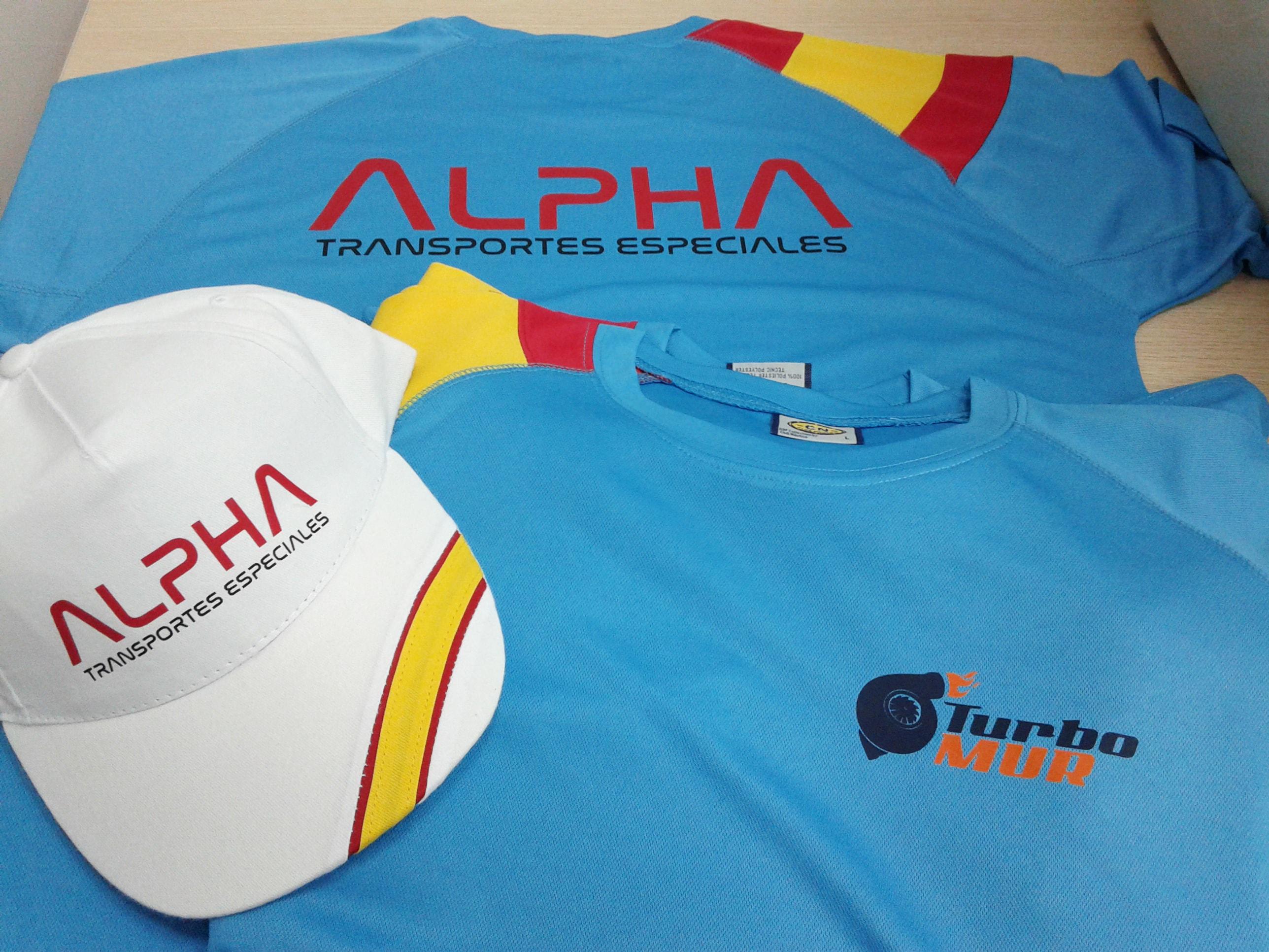 Gorras y camisetas personalizadas