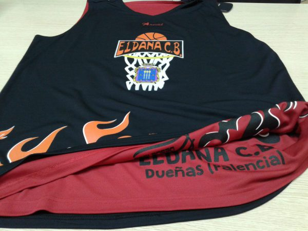 camiseta reversible baloncesto