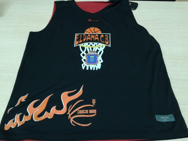 camiseta reversible basket