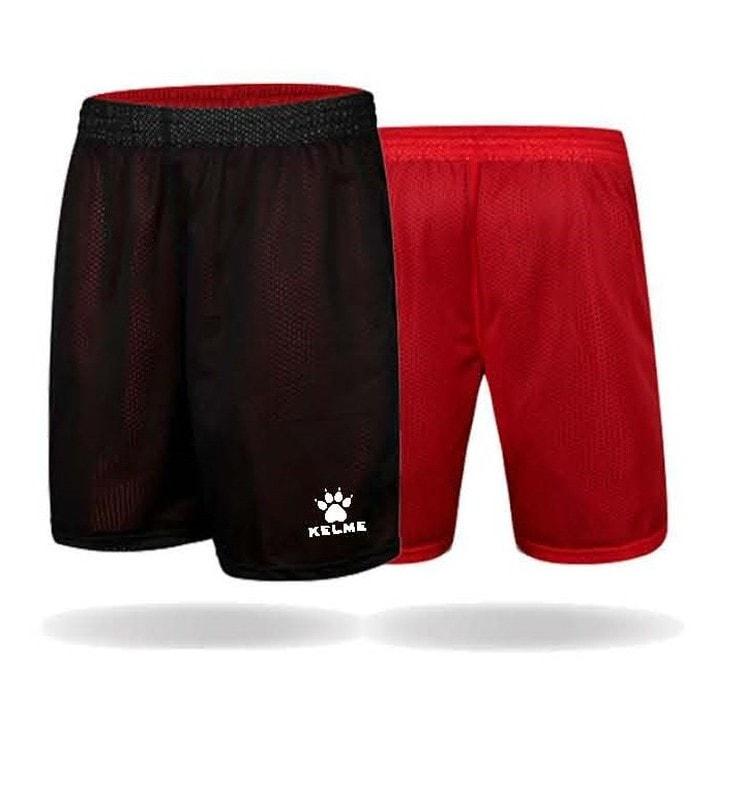 pantalon reversible rojo y negro