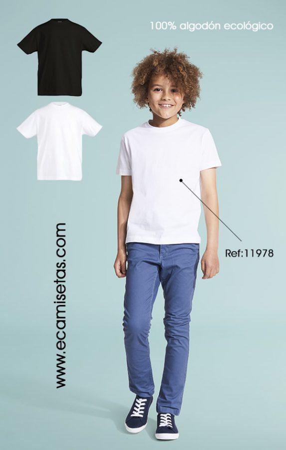 camiseta infantil algodon ecologico