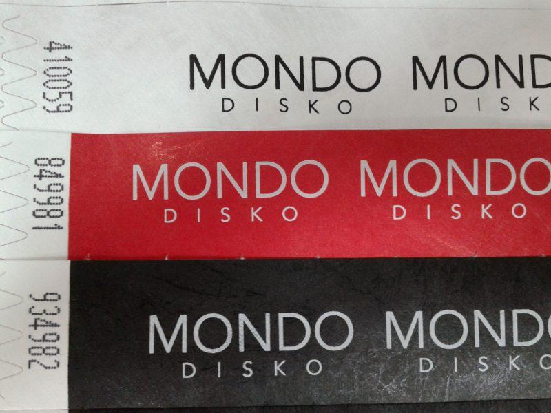 Mondo disko pulseras para eventos