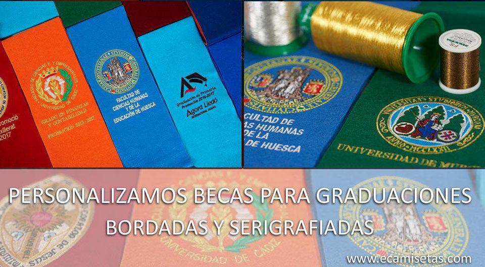 Becas para graduaciones personalizadas