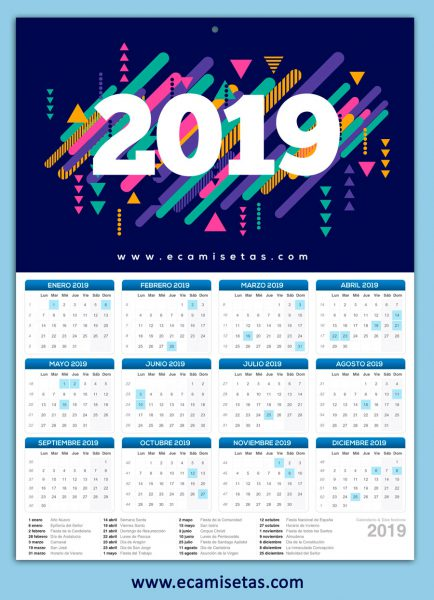 Calendario personalizado pared