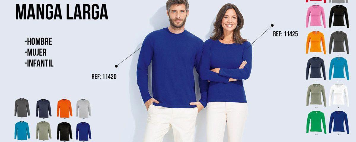 Camisetas manga larga mujer y hombre
