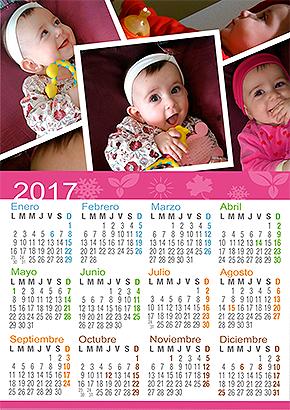 Calendario personalizado infantil