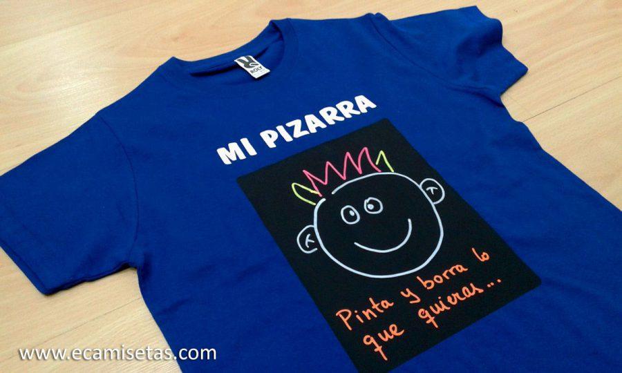 Camiseta pizarra personalizada